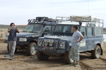 Land Rovers offroad in Morocco